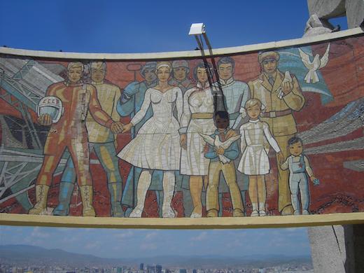 Het Zaisan Monument net buiten hoofdstad Ulaanbaatar.