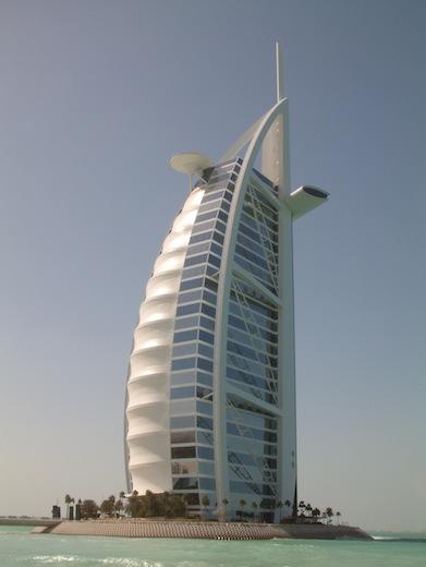 De Burj Al Arab in Dubai.