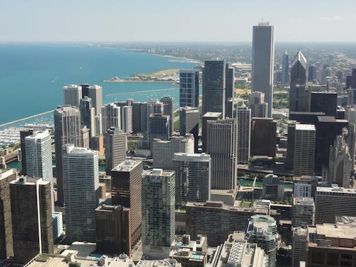 uitzicht john hancock chicago