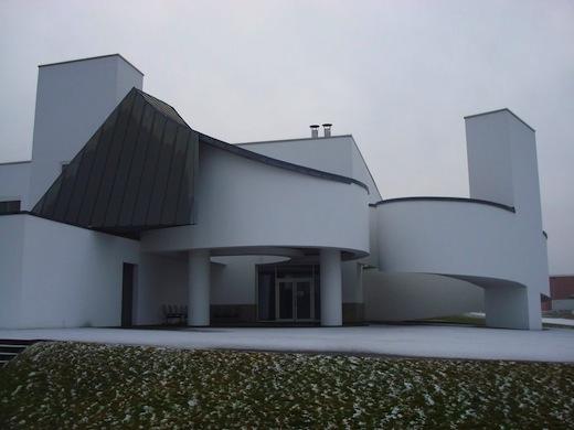 Het Vitra Design Museum in Weil am Rhein.