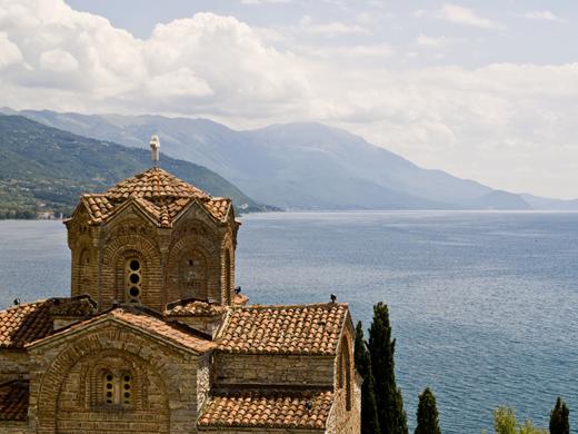 De Sveti Jovan Kaneo aan het Meer van Ohrid