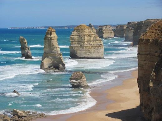 De '12 apostelen': rotsformaties in de staat Victoria aan de zuidkust van Australië.