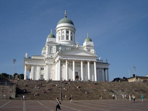 De Domkerk (Tuomiokirkko) in Helsinki.