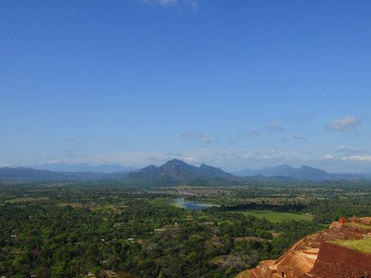 Uitzicht vanaf het Sigiriya Paleis (Foto: James Gordon
