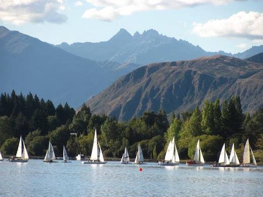 De natuur in Nieuw-Zeeland is overweldigend, zoals hier bij Wanaka.
