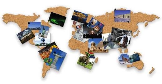 wereldkaart-prikbord