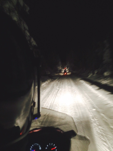 sneeuwscooter lapland