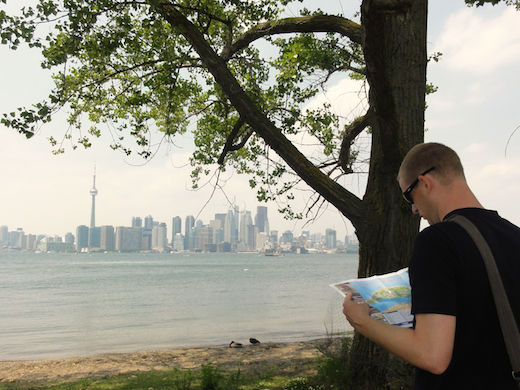 Toronto Islands uitzicht skyline